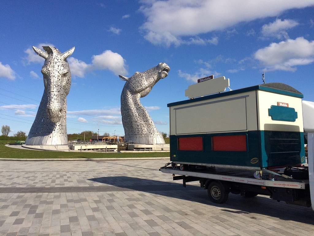 Wheeliebox demountable catering kiosk at The Kelpies